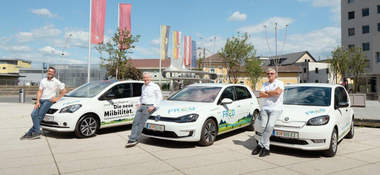Autohaus Wiegele und Lindner in Villach; v.l. Hannes Wiegele, Franz-Gerhard Patterer, Heinz Gossmann; Credits: Thomas Taurer